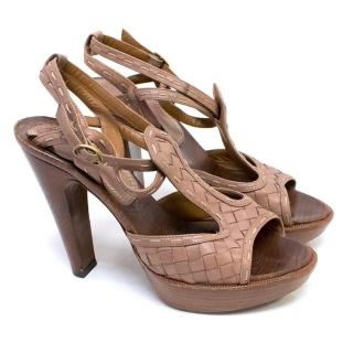 Bottega Veneta Taupe and Tan Sandals