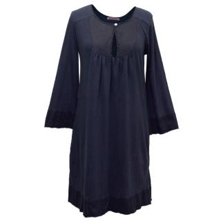 Velvet Navy Cotton Dress
