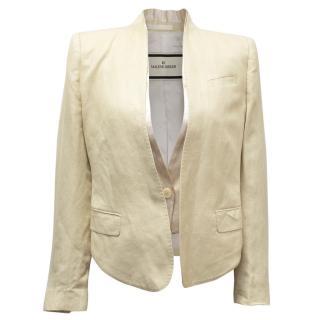By Malene Birger Cream Cropped Jacket