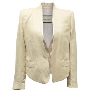 By Malene Birger Cream Cropped Jacket