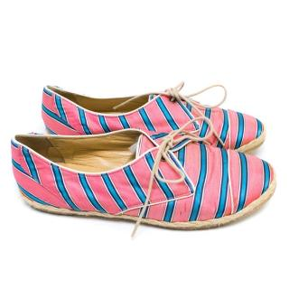 Tabitha Simmons Striped Espadrille Style Flats