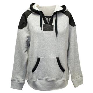 Isabel Marant Leather-Trimmed Hoodie