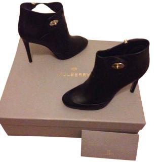 Mulberry black leather ankle boots