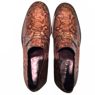 Gucci Snakeskin Loafers