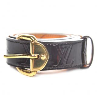 Vuitton amaretto patent belt