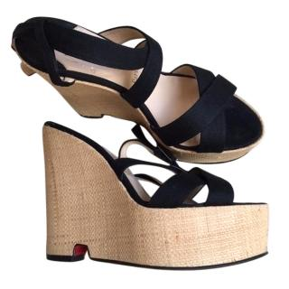 Louboutin platform wedge sandals