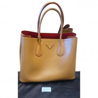 Prada Saffiano Cuir Bag in Caramel