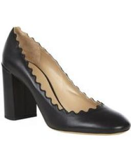 Chloe 'Elf' black leather court shoes