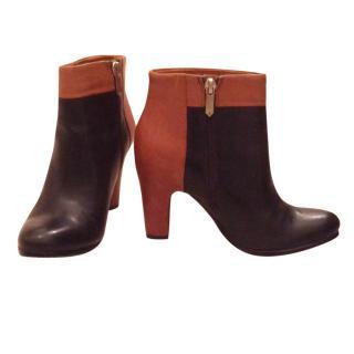 Sam Edelman Bicolor Ankle Boots