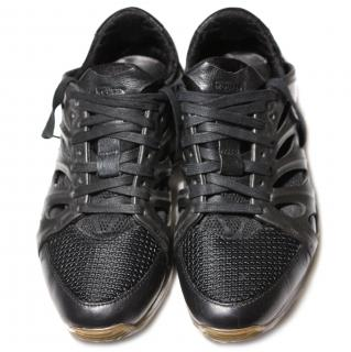 Collector's Immaculate Alexander McQueen Black Men's Rib Cage Sneakers