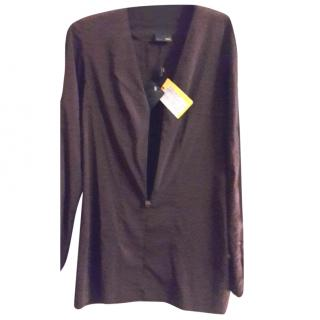 Fendi Blouse Stretch with Zip Front Size 34 / UK