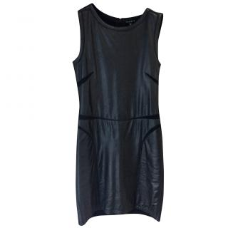 Theory Leather and Jersey Dress