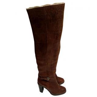 Miu Miu Leather boots brown