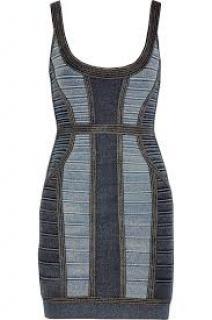 Herve Leger aja indigo dress