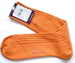 Ralph Lauren Purple Label orange cotton socks