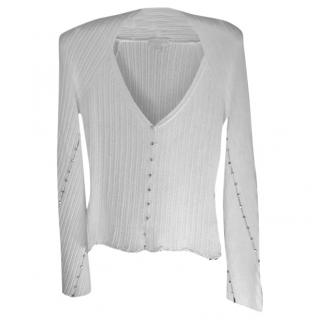 Roberto Cavalli White top with rhinestone detail