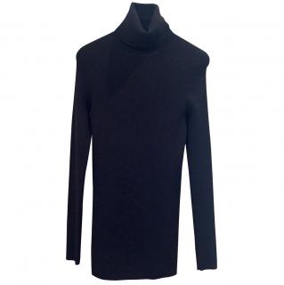 Theory Skinny Rib Polo Neck