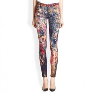 Hudson Nico Paint Limited Edition Splash Skinny Jeans