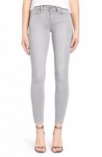 Paige Verdugo Montauk grey crop skinny mid rise jeans 26