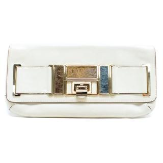 Anya Hindmarch Cream Clutch