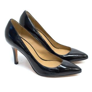 Maje Black Pointed Leather Pumps