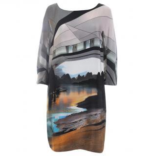 Mary Katrantzou Silk Printed Shift Dress