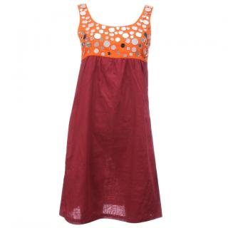 Miu Miu Embellished Cotton Dress