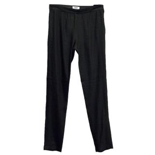 Acne Black High Waisted Trousers