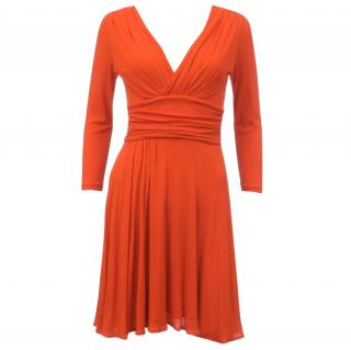 Prada Gathered Jersey Dress