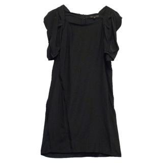 Maje Black Silk Dress