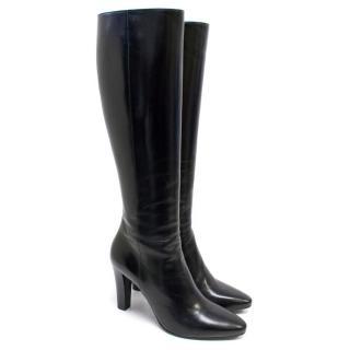 Saint Laurent Black Knee High Lily Boots