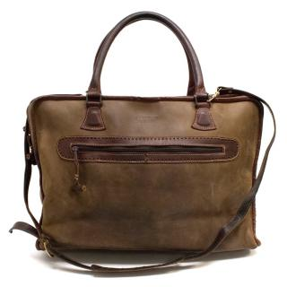 Cartujano de Espana Brown Leather Weekend Bag
