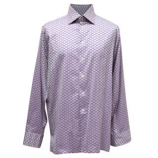 Richard James Savile Row Purple Printed Shirt