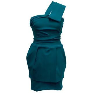 Preen by Thornton Bregazzi Teal Layered Dress