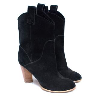 Marc by Marc Jacobs Black Suede Ankle Boots