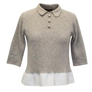 Louis Vuitton Cropped Collared Jumper