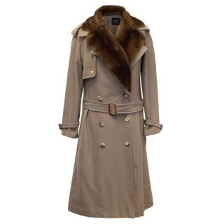 Lanvin Trenchcoat with Fur Collar
