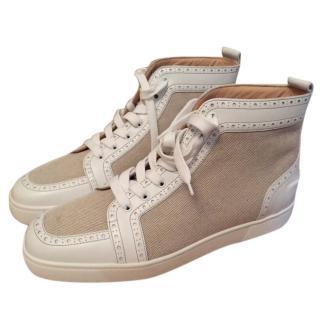 Christian Louboutin Mens Fleuri Flat Calf Granariso Sneakers EU 44.5