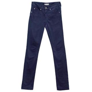 Acne Dark Blue Straight Leg Jeans