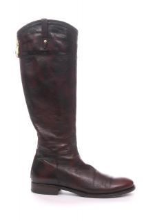 Cesare Paciotti Zip Detail Long Leather Boots
