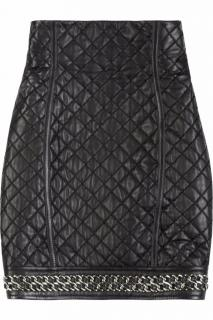 Balmain Leather Skirt