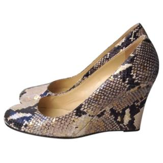 Kate Spade snakeskin wedge shoes