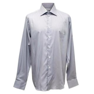 Richard James Grey and White Fine Pinstripe Shirt