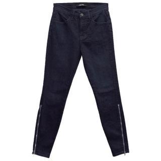 J Brand 'Klash' Dark Blue Skinny Jeans with Ankle Zips
