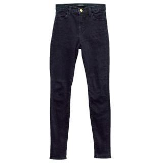J Brand Dark Blue High-Waisted Skinny Jeans