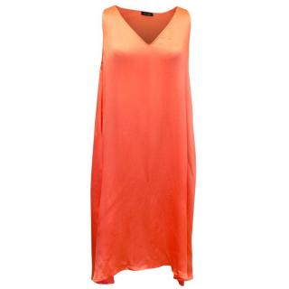 Ms Min Coral Silk Dress