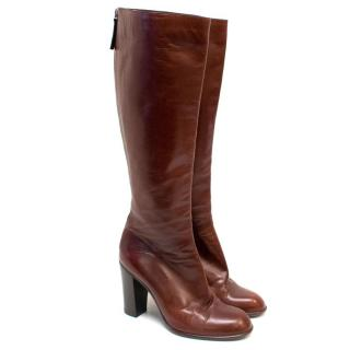 Marc Jacobs Dark Tan Knee High Boots