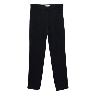 Acne Black Cropped Skinny Trousers