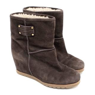 Marc by Marc Jacobs Chocolate Wedge Boots