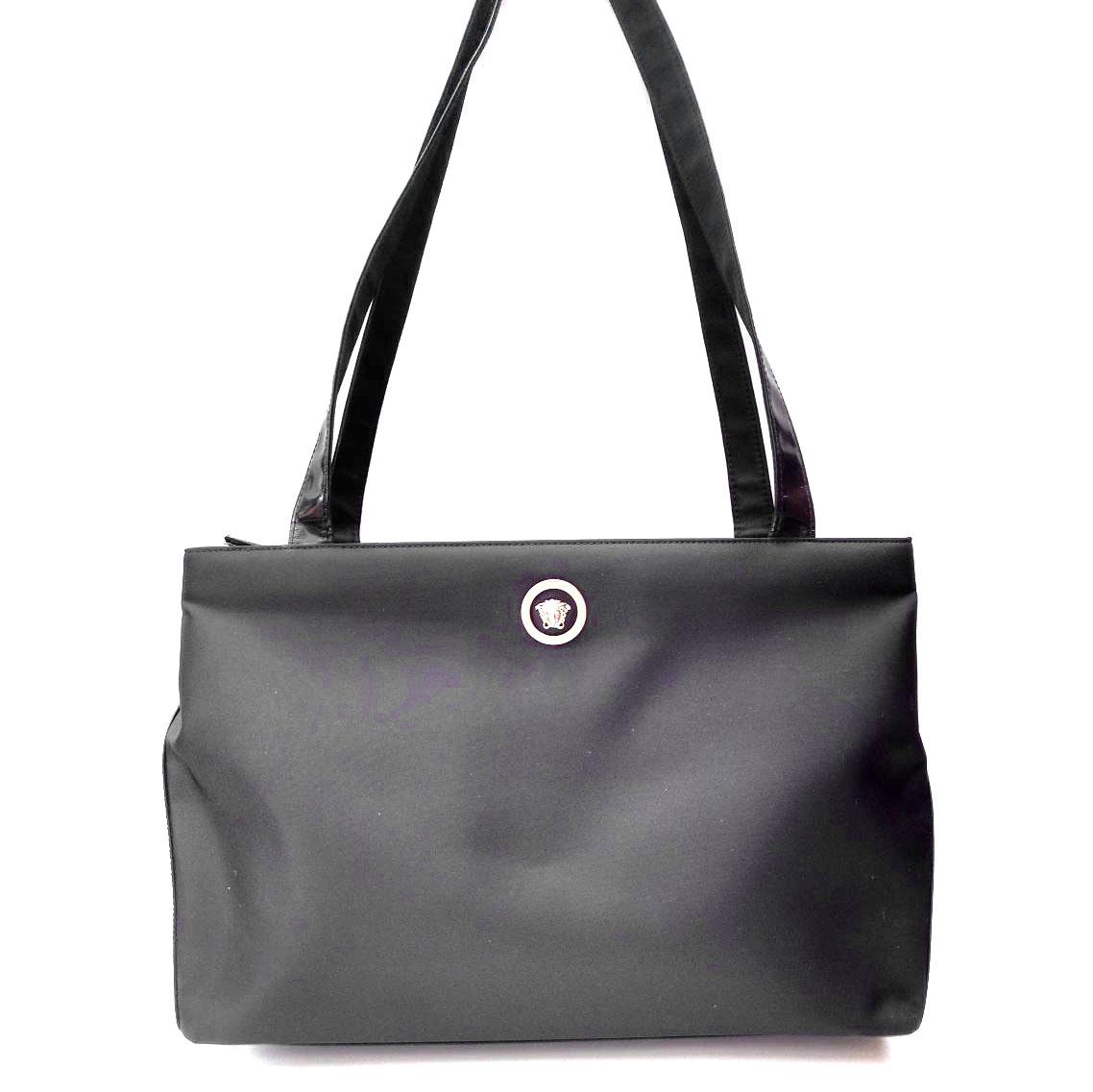 Gianni Versace Vintage Black Shoulder Large Bag  6e647573e6db6